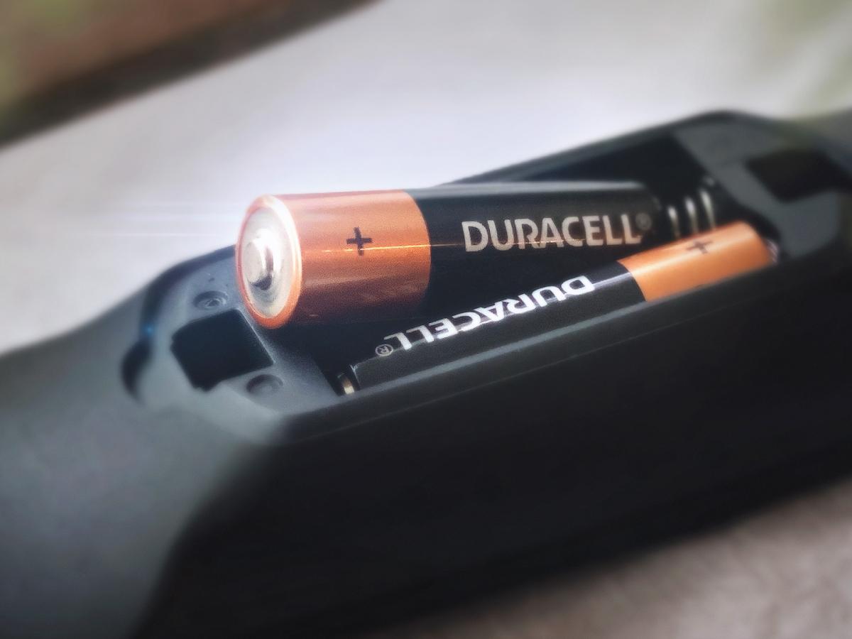 Coppertop batteries in a remote control