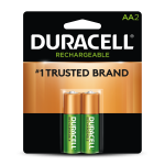 Front of Rechargeable AA 2 pack